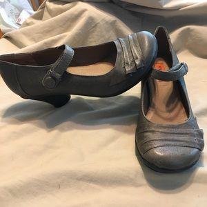 Miz Moos Caroline grey Mary Jane style heels